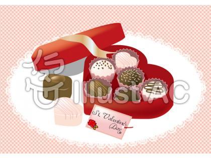 チョコ盛り合わせのイラスト