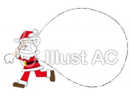 サンタの飾り枠 袋イラスト No 無料イラストなら イラストac