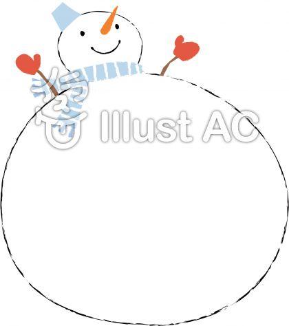 雪だるまイラスト無料イラストならイラストac