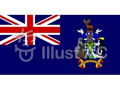 サウスジョージア・サウスサンドウィッチ諸島の旗