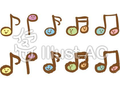 ラフな手描きの音符イラスト No 79006無料イラストならイラストac