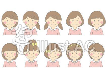 女の子 髪型 イラスト 簡単 Htfyl