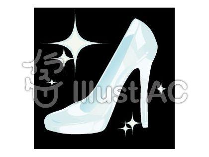 u_ガラスの靴イラスト , No 142737/無料イラストなら