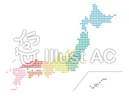 日本地図(ドット)