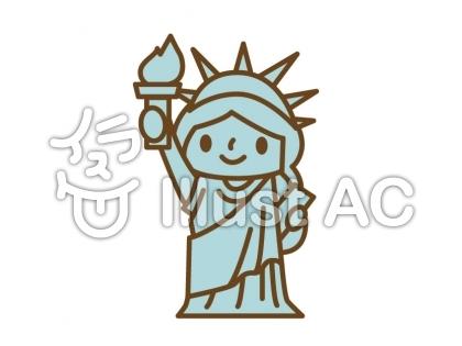 自由の女神像イラスト No 157284無料イラストならイラストac