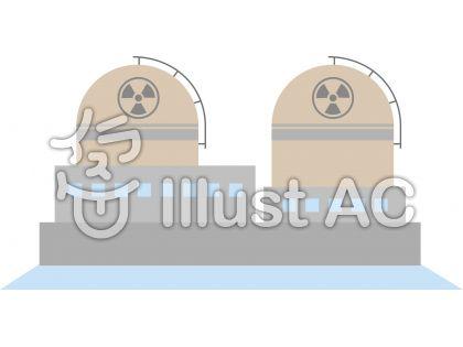 原子力発電所原発電気イラスト No 167165無料イラストなら