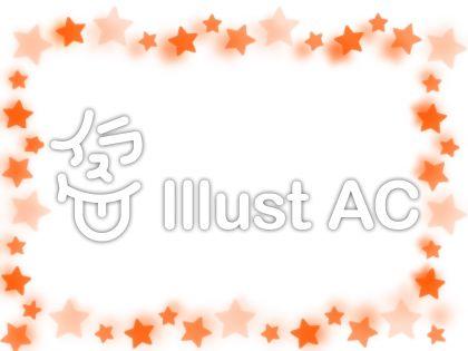 オレンジの星(ぼかし有り)のイラスト