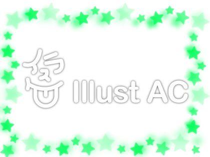 緑の星(ぼかし有り)のイラスト