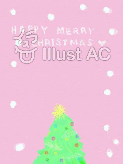 優しいクリスマスのフレームのイラスト