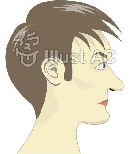男性の横顔右頬イラスト No 344082無料イラストならイラストac