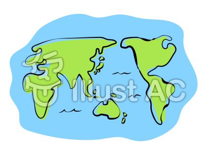 世界地図イラスト No 344446無料イラストならイラストac