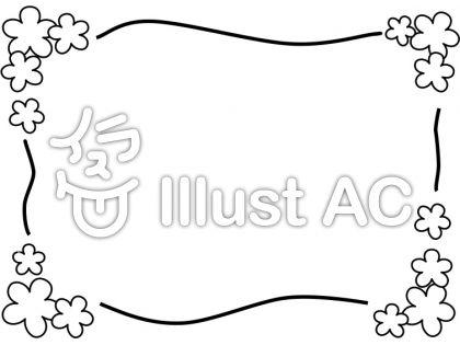 花のメッセージ枠イラスト No 344935無料イラストならイラストac