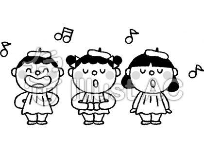 子供 発表会 幼稚園 モノクロイラスト No 351042無料イラストなら