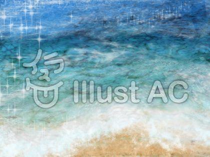 夏の海辺のイラスト