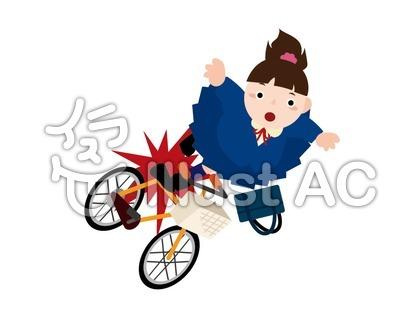 自転車事故のイラスト