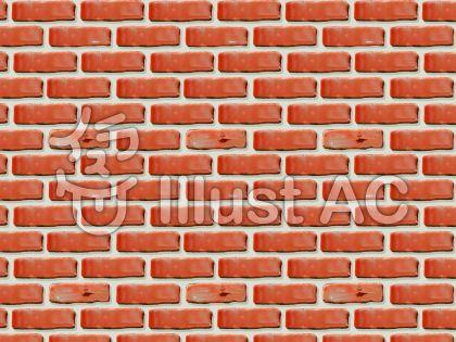 赤い煉瓦の壁のイラスト
