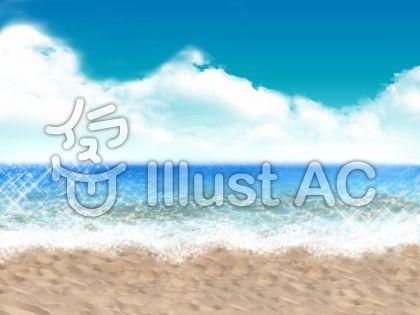 遠景 海のイラスト