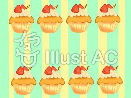 カップケーキ柄②のイラスト