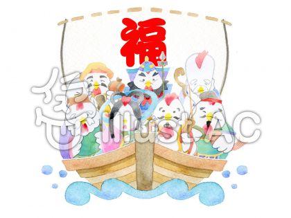七福神 酉 ★0424-etoのイラスト