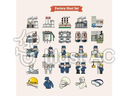 工場のイラスト