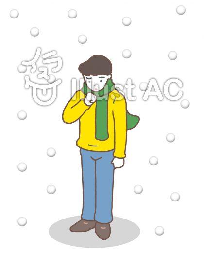 厳寒 ・降雪のイラスト