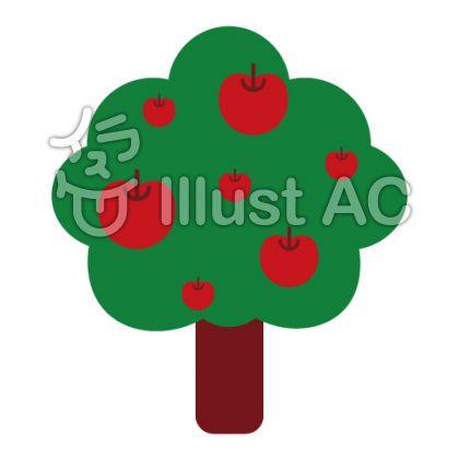 リンゴの木イラスト No 676952無料イラストならイラストac