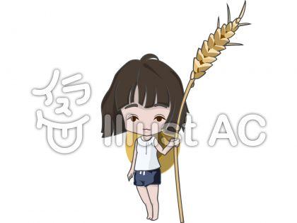 麦を持った女性
