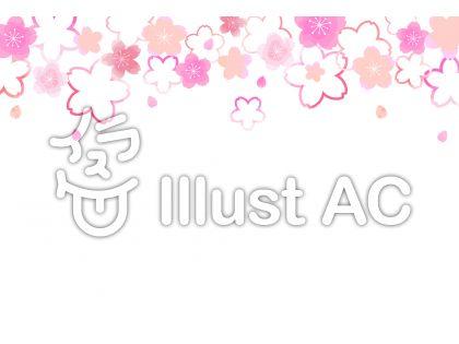 桜背景04のイラスト