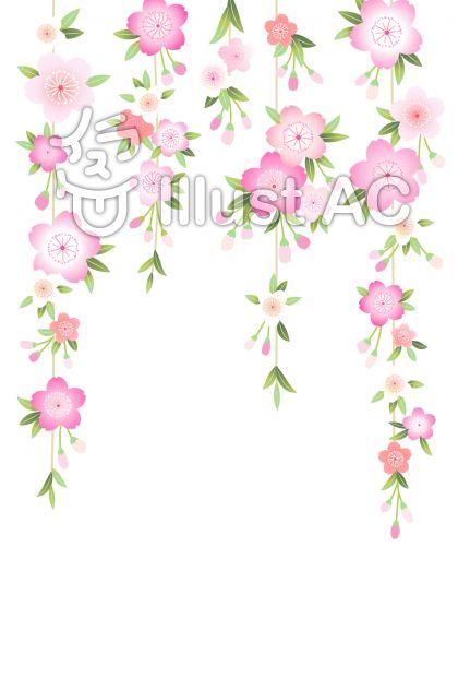 桜背景10のイラスト