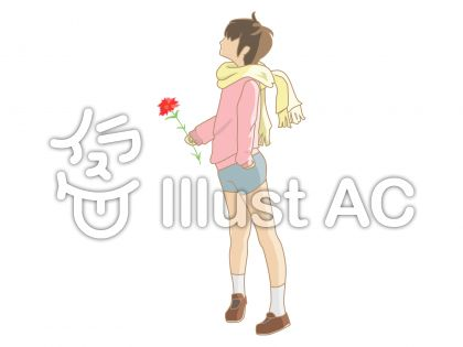 花を持った男の子