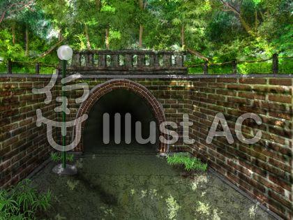 山奥のトンネルのイラスト