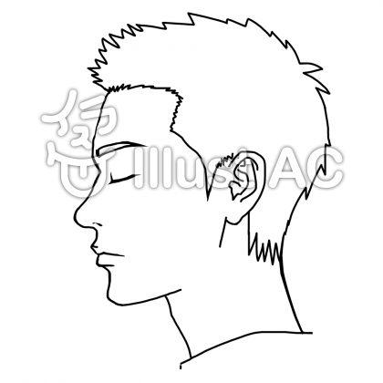 目を閉じた男性 横顔イラスト No 749024無料イラストならイラストac