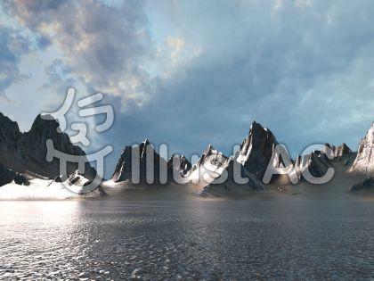 金属惑星 x の景観のイラスト