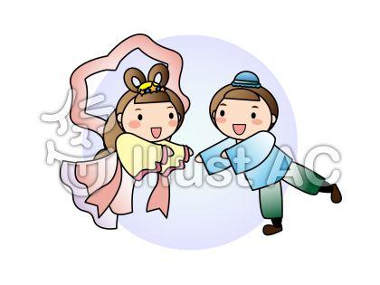 七夕 彦星と織姫のイラスト