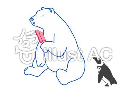 動物-しろくまのイラスト