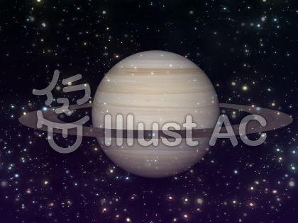 宇宙壁紙 惑星 土星①イラスト , No 818633/無料イラストなら