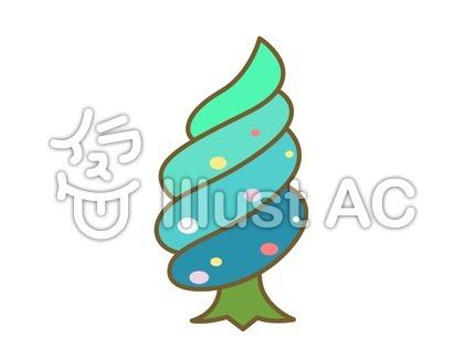 うずまき型の木