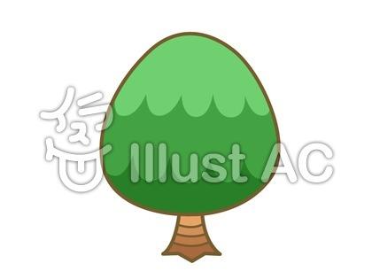 たまご型の木