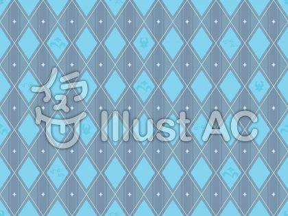 菱柄・blue