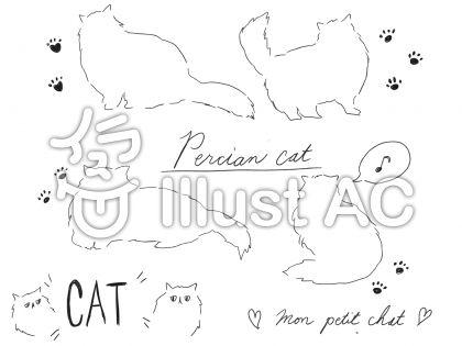 ペルシャ猫イラスト/無料イラストなら「イラストAC」