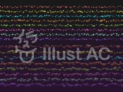 キラキラとハートのライン散布ブラシセット
