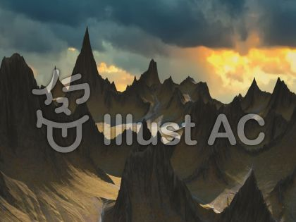 巨大山脈のイラスト