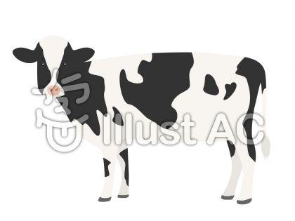 乳牛イラスト無料イラストならイラストac