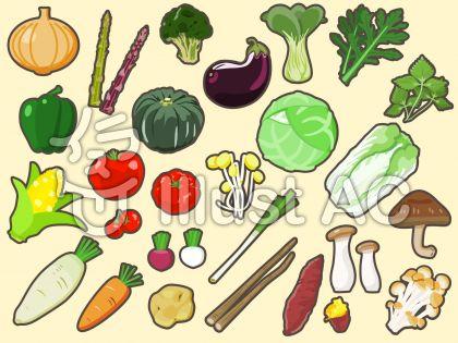 野菜アイコンセット・縁取りあり