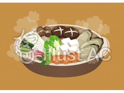 牡蠣鍋のイラスト