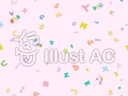 アルファベット・ピンク