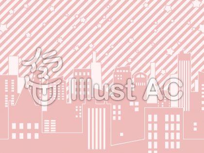 星とビル・ピンク