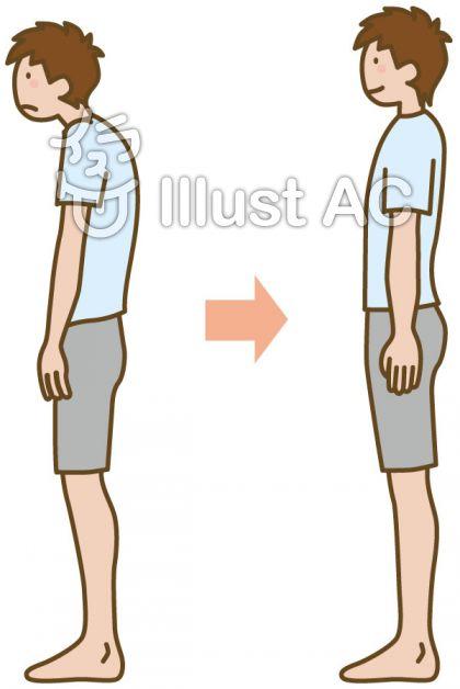 「いい姿勢 フリー素材」の画像検索結果