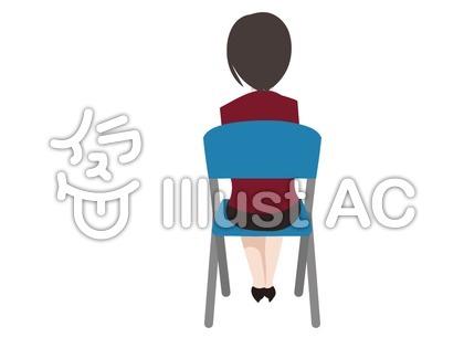 に イラスト 椅子 座る