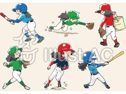 女の子・野球